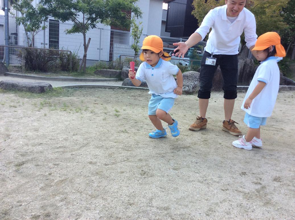 運動会ごっこ綱引き写真1